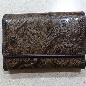 Relic Wallet Brown Embossed
